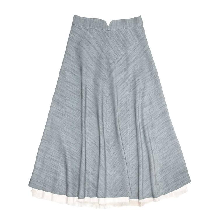Marc Jacobs Sky Blue A-Line Skirt