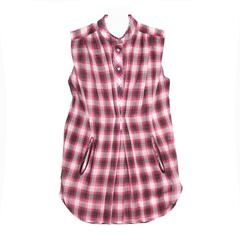 Marc Jacobs Red Plaid Cotton Shirt