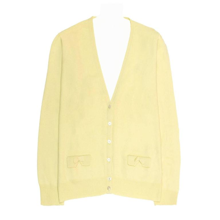 Marc Jacobs Yellow Cashmere Cardigan For Sale at 1stdibs