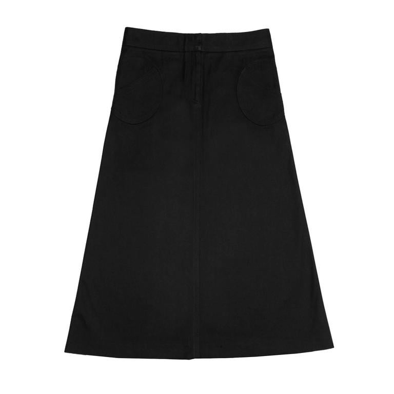 Marc Jacobs Black Thick Cotton Skirt