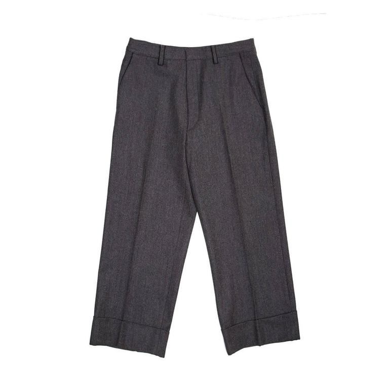 Jil Sander Grey Wool Gaucho Slacks