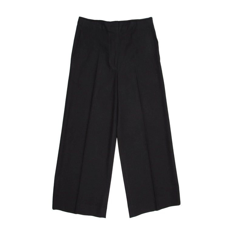 Jil Sander Black Wool Cropped Trousers
