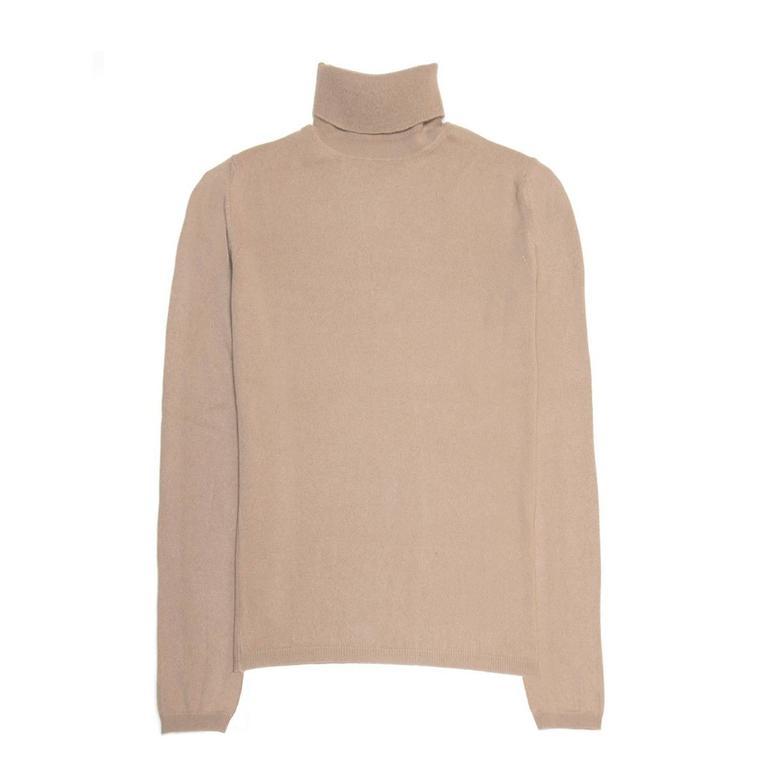 e33c8948 Jil Sander Brown Cashmere Rollneck Sweater