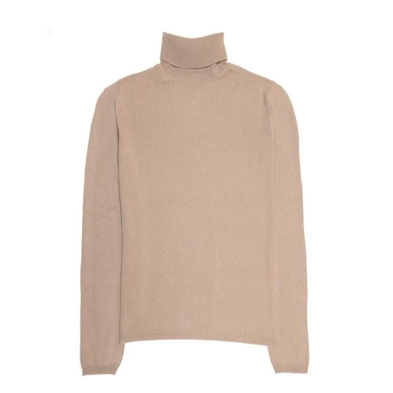 Jil Sander Brown Cashmere Rollneck Sweater