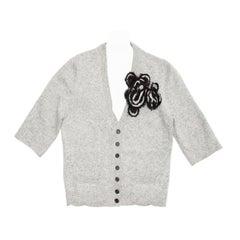 Marc Jacobs Grey V-neck Cardigan