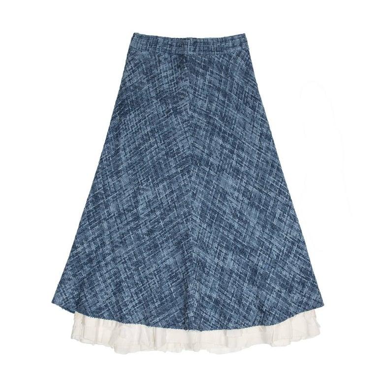 Marc Jacobs Blue A-Line Skirt