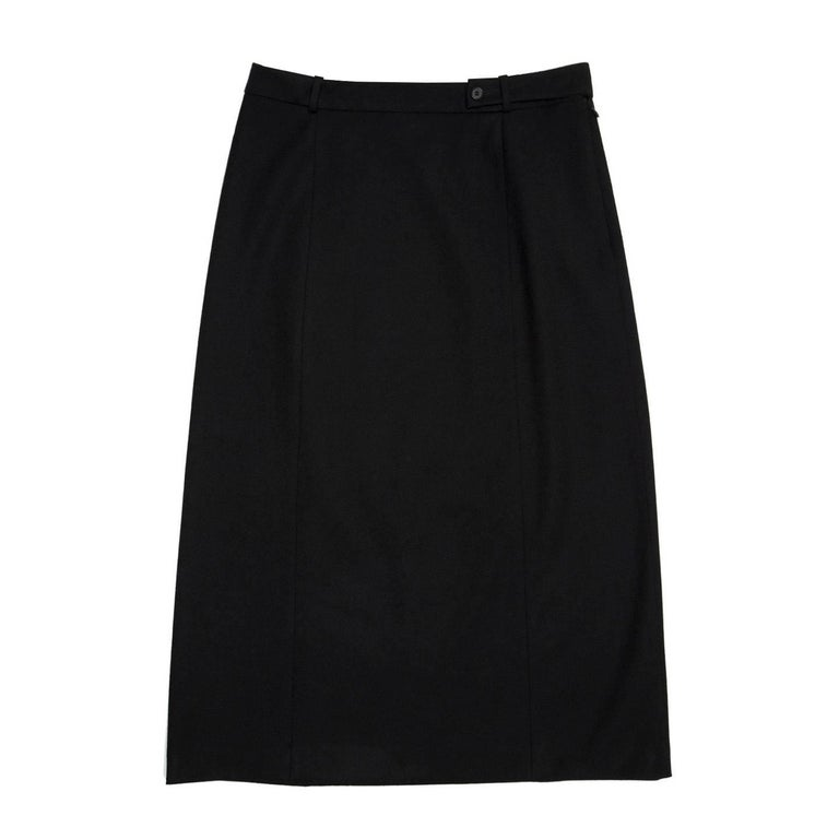 Prada Black Wool Straight Skirt