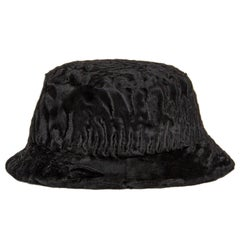 Prada Black Broadtail Lamb Fur Hat