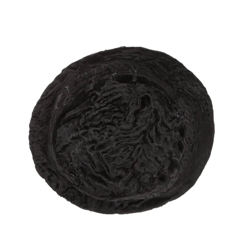 Women's Prada Black Broadtail Lamb Fur Hat For Sale