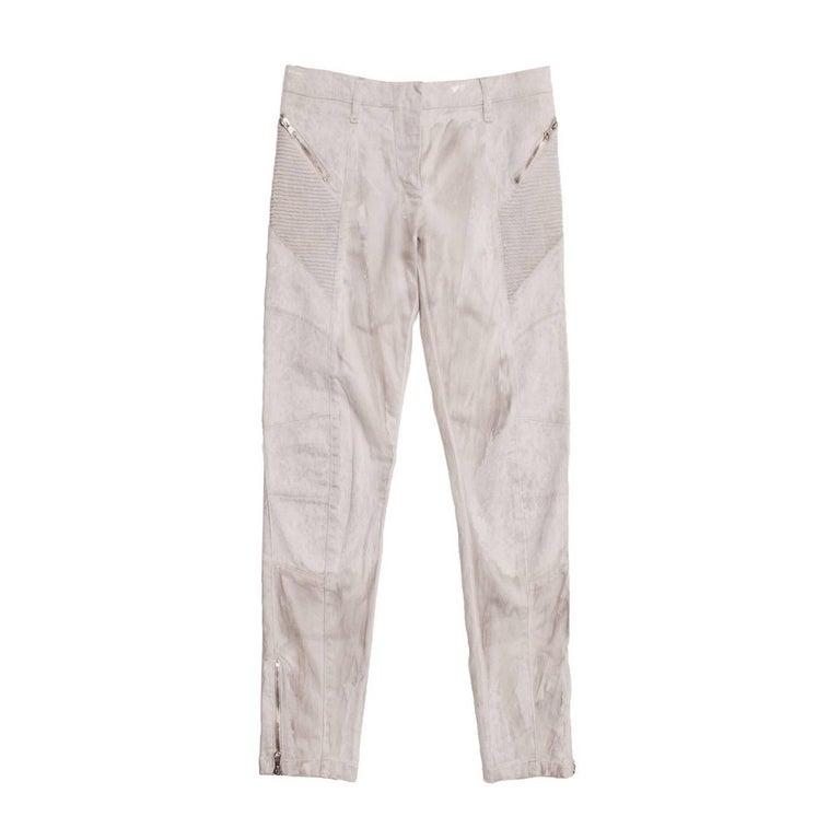 Pierre Balmain Grey Biker Style Jeans