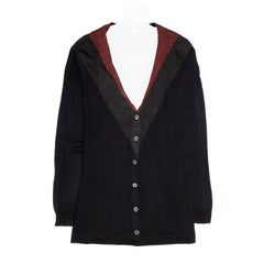 Prada Midnight Blue Red & Grey Cardigan