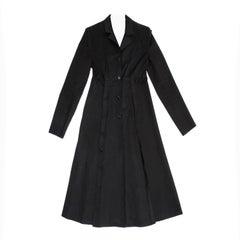 Prada Black Cotton Princess Cut Coat