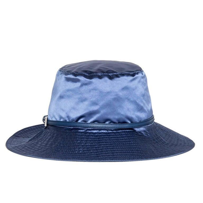 Prada Royal Blue Silk Hat 3