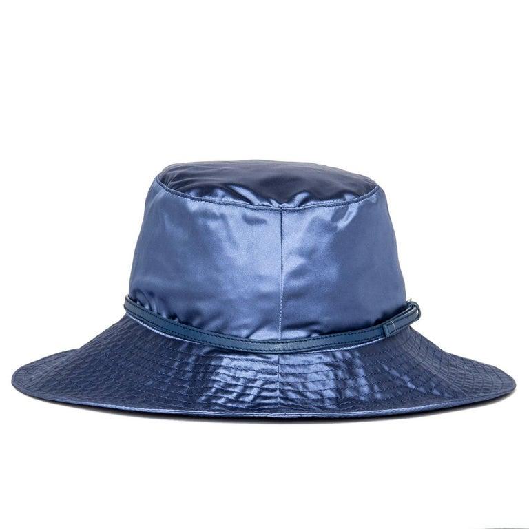 Prada Royal Blue Silk Hat 4