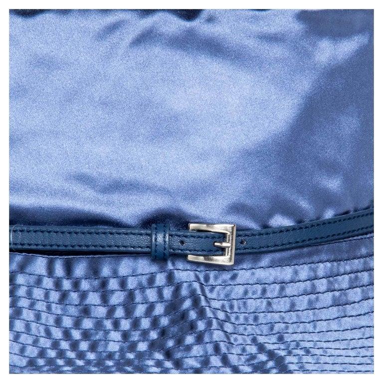 Prada Royal Blue Silk Hat For Sale 1