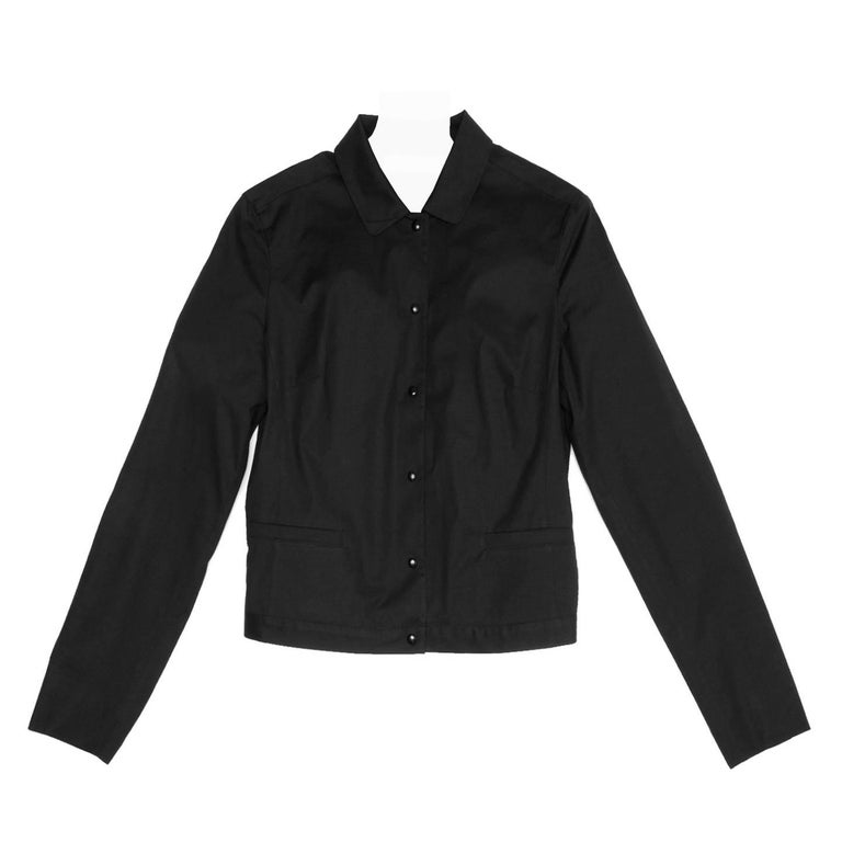 Miu Miu Black Cotton Snap Jacket