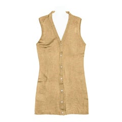 Prada Olive Silk Sleeveless Cardigan