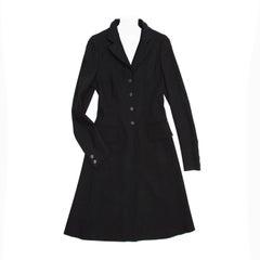 Prada Black Wool Riding Style Coat