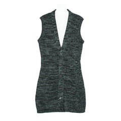 Prada Forest Green Sleeveless Cardigan