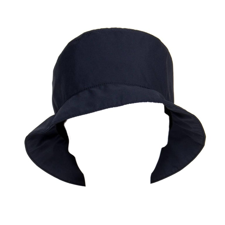 Prada Navy Blue Goretex Bucket Cap For Sale