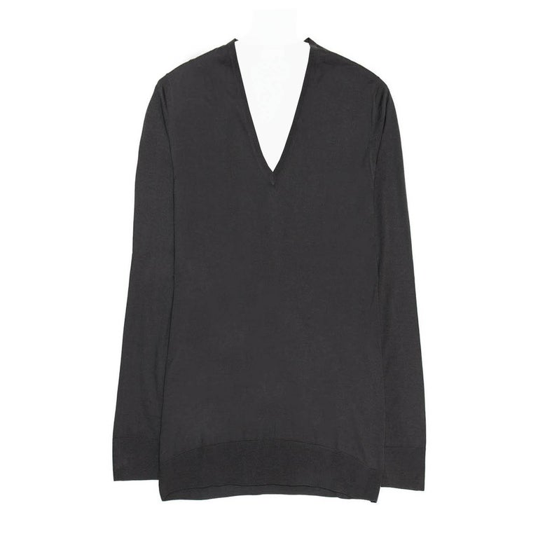 Prada Anthracite Cashmere & Silk Sweater