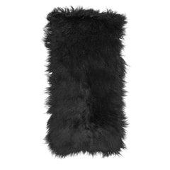 Prada Black Fur & Leather Rug