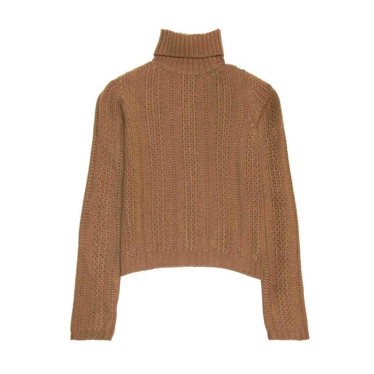 Prada Camel Roll Neck Sweater