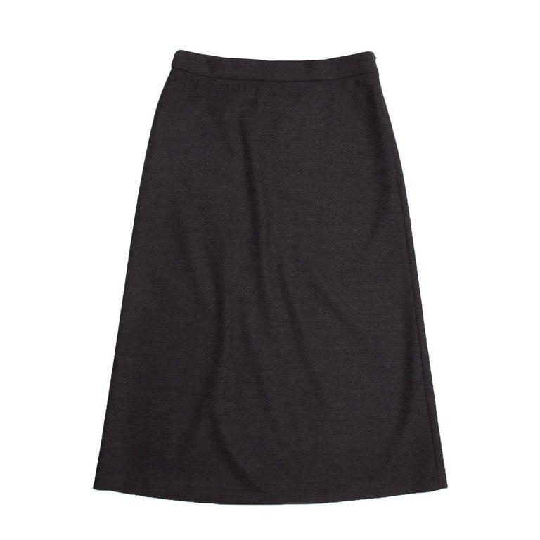 Prada Charcoal Grey A-Line Skirt