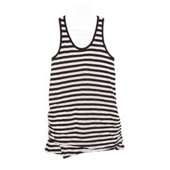 Proenza Schouler Black & Ivory Striped Tank Dress