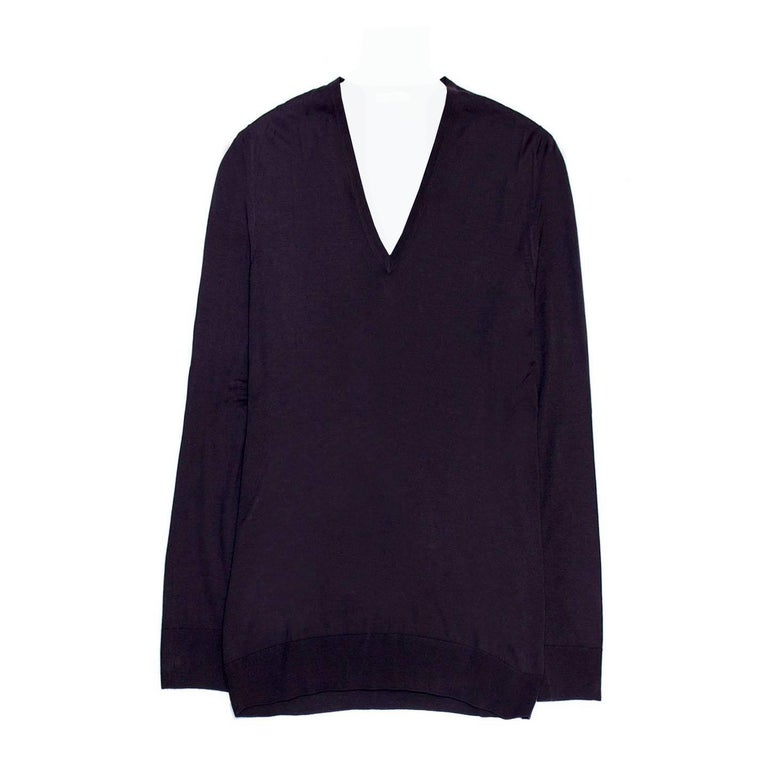 Prada Purple Blue Wool Pullover