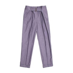 Stella McCartney Grey Check Pleated Pants