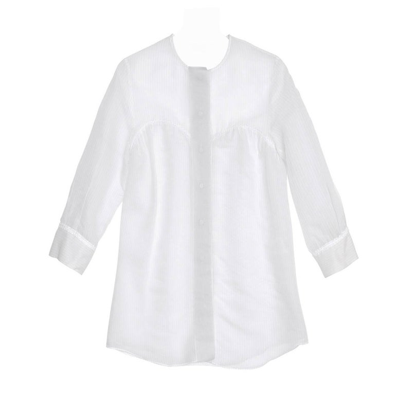 Stella McCartney Ivory & Grey Pin Stripe Shirt 1