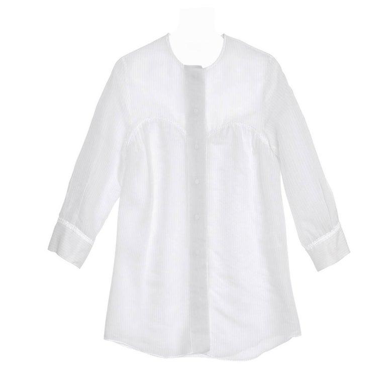 Stella McCartney Ivory & Grey Pin Stripe Shirt For Sale