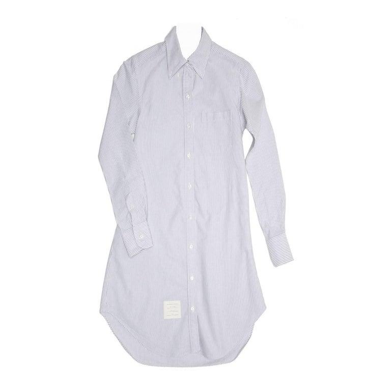 Thom Browne Blue & White Shirt Dress