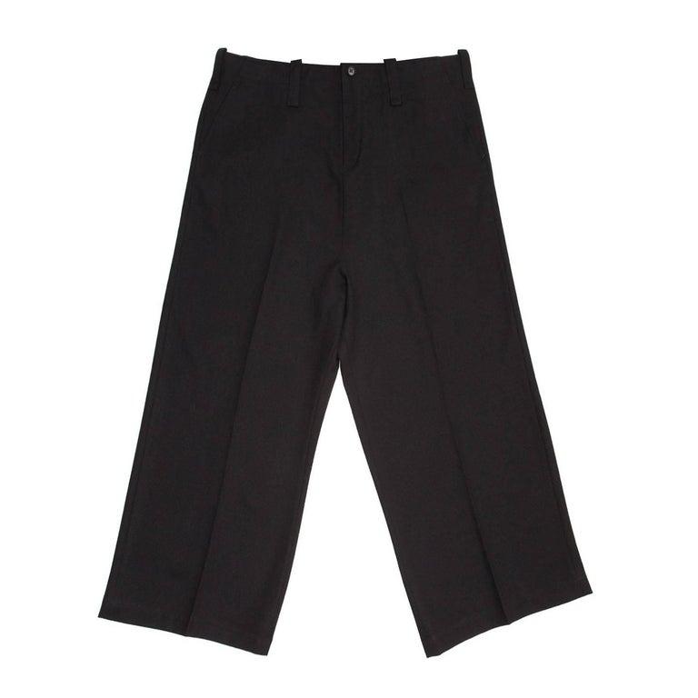 Yohji Yamamoto Black Wide Legged Slack Pants