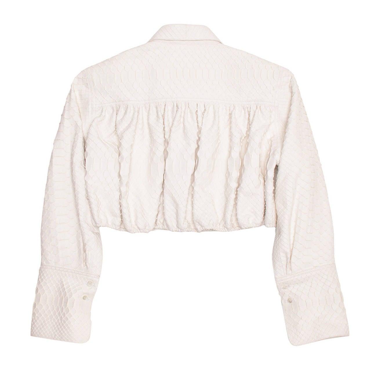 Alaia White Python Bolero Jacket 2