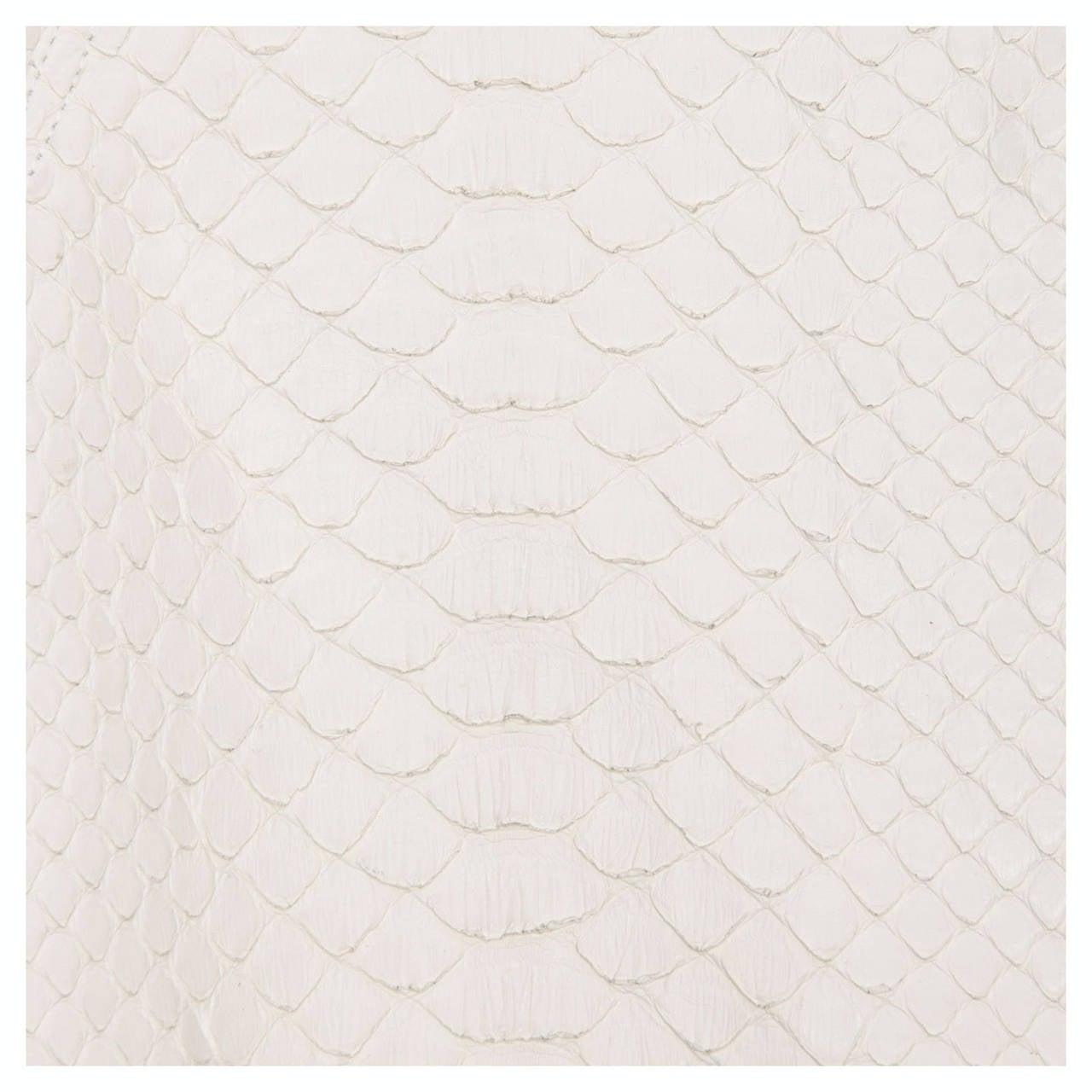 Alaia White Python Bolero Jacket 4