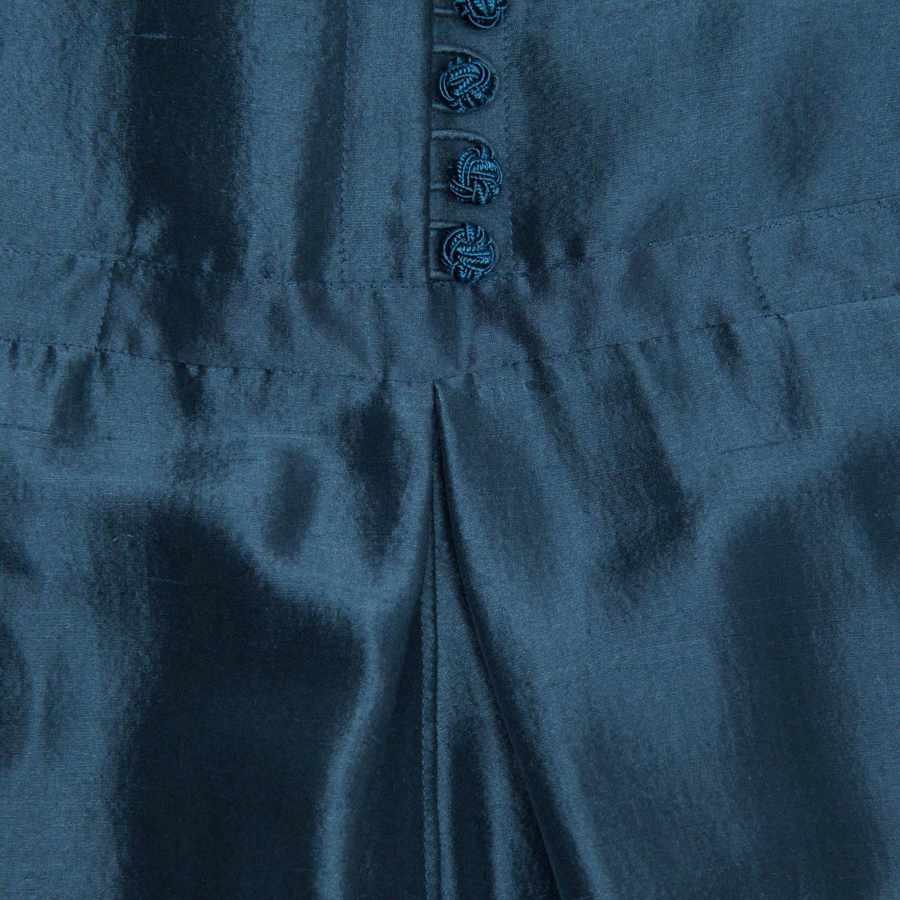 Hermes Silk Teal Tunic Dress 3