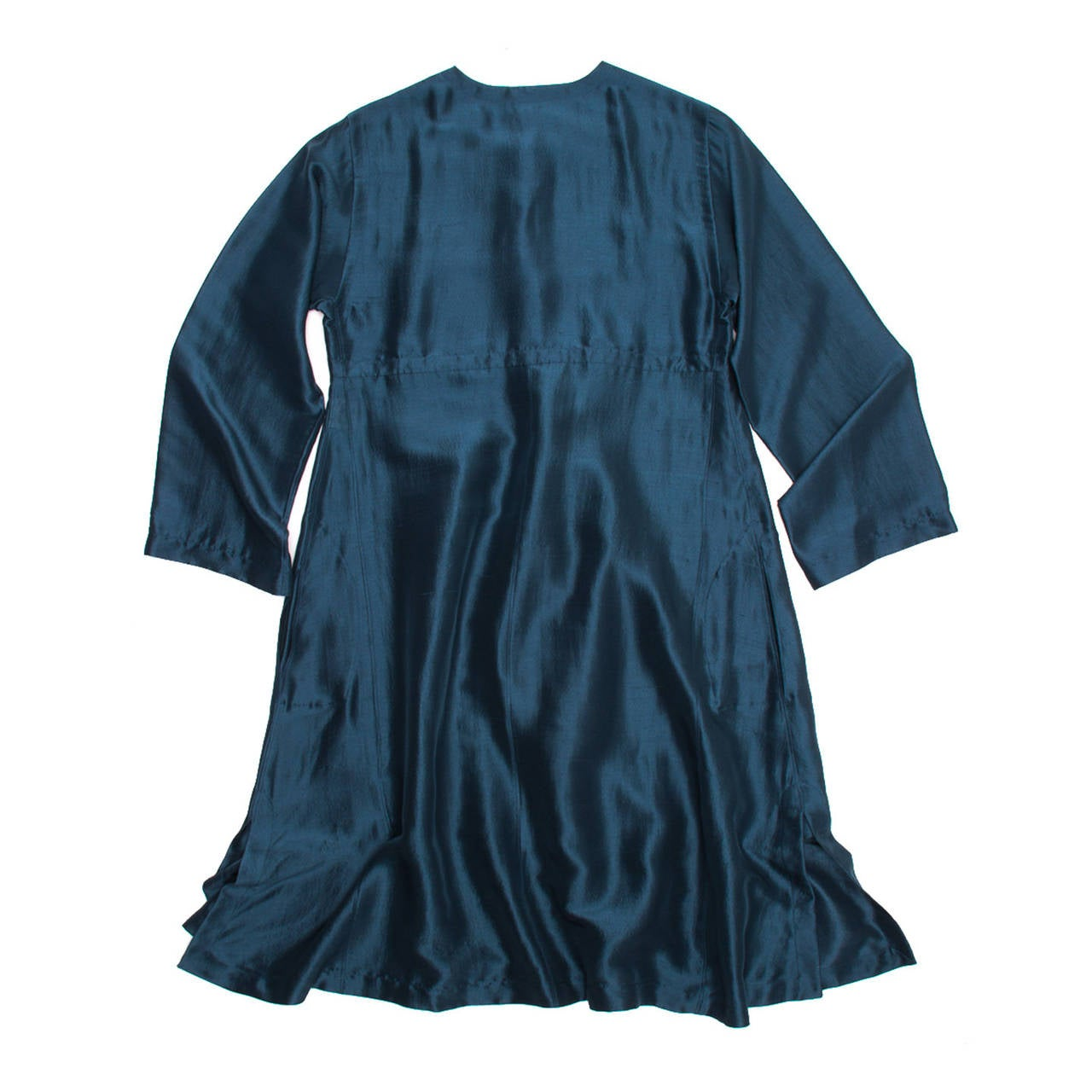 Hermes Silk Teal Tunic Dress In New Condition For Sale In Brooklyn, NY