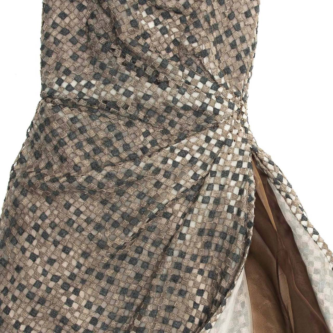 Women's Marc Jacobs Grey Strapless Corset Dress For Sale