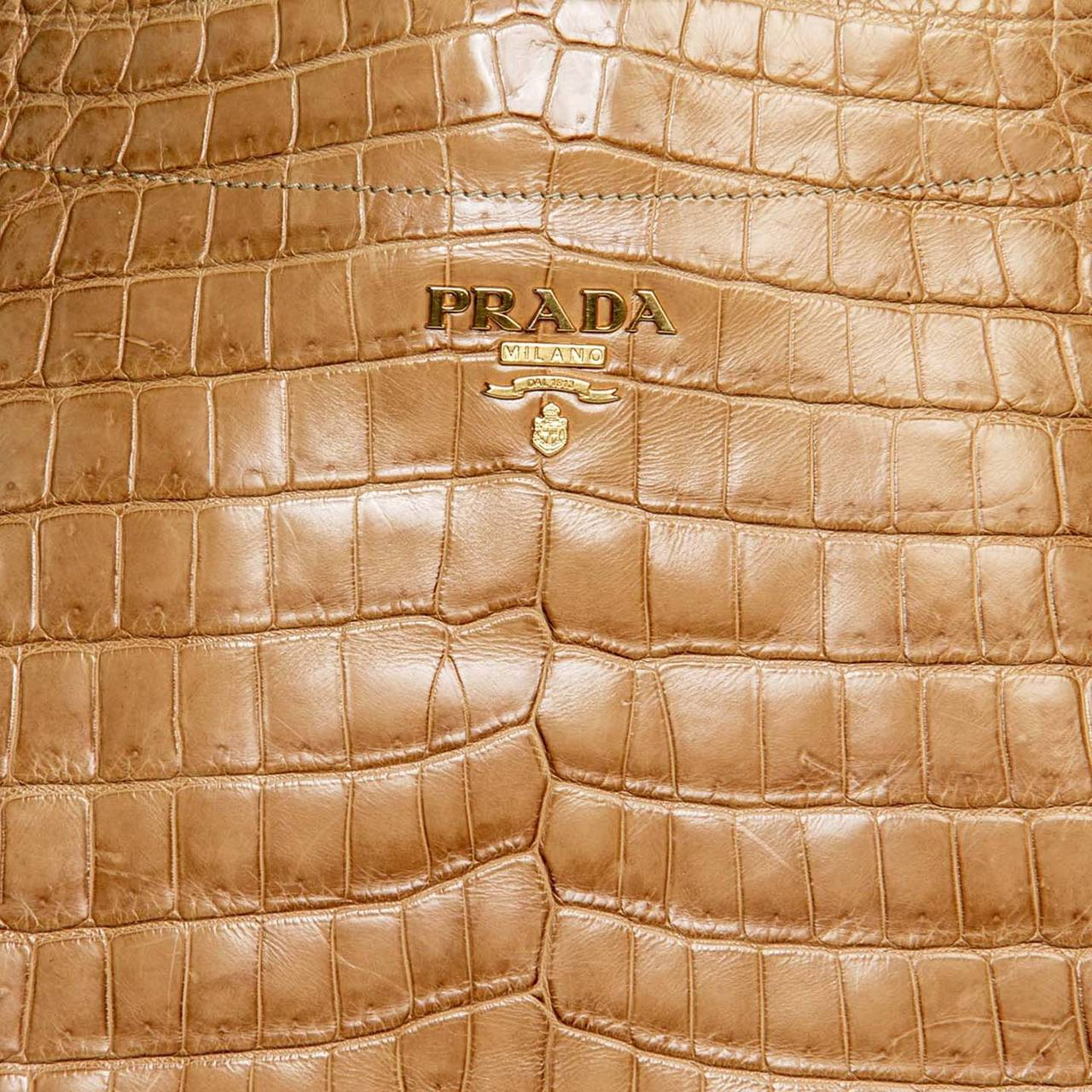 prada crocodile mirror bag