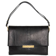 Celine Black Snake Skin Bag