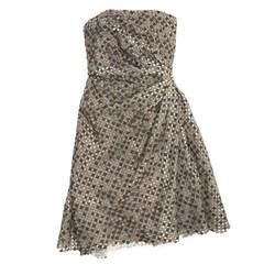 Marc Jacobs Grey Strapless Corset Dress
