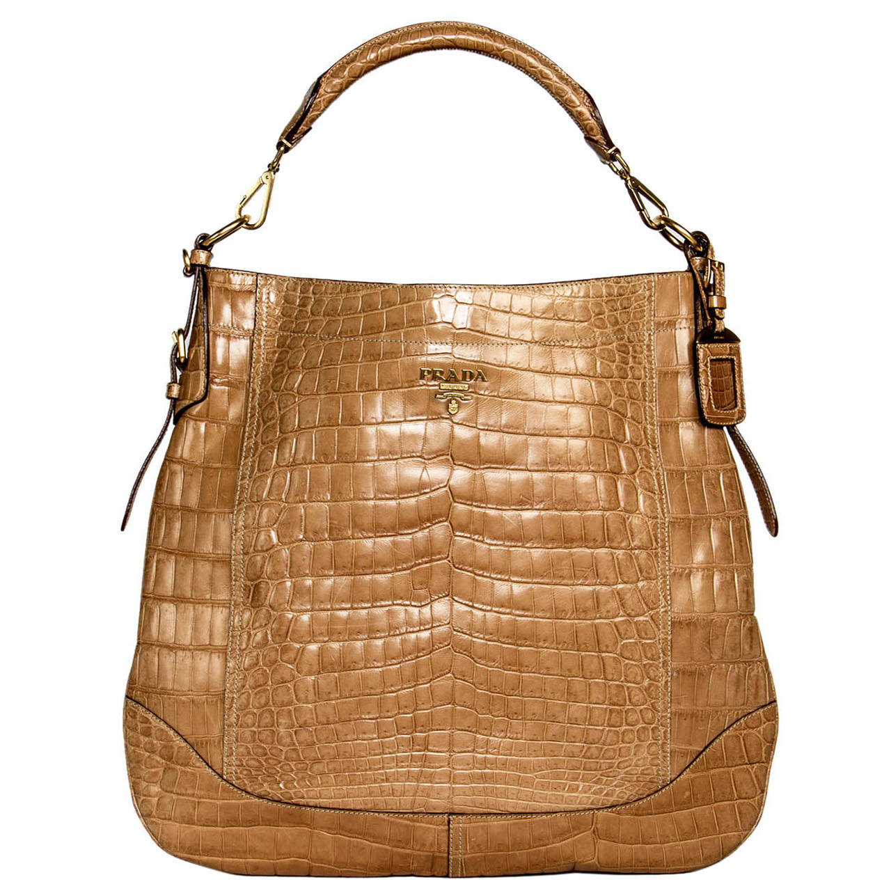 9cce872026f2 Prada Tan Crocodile Bag at 1stdibs