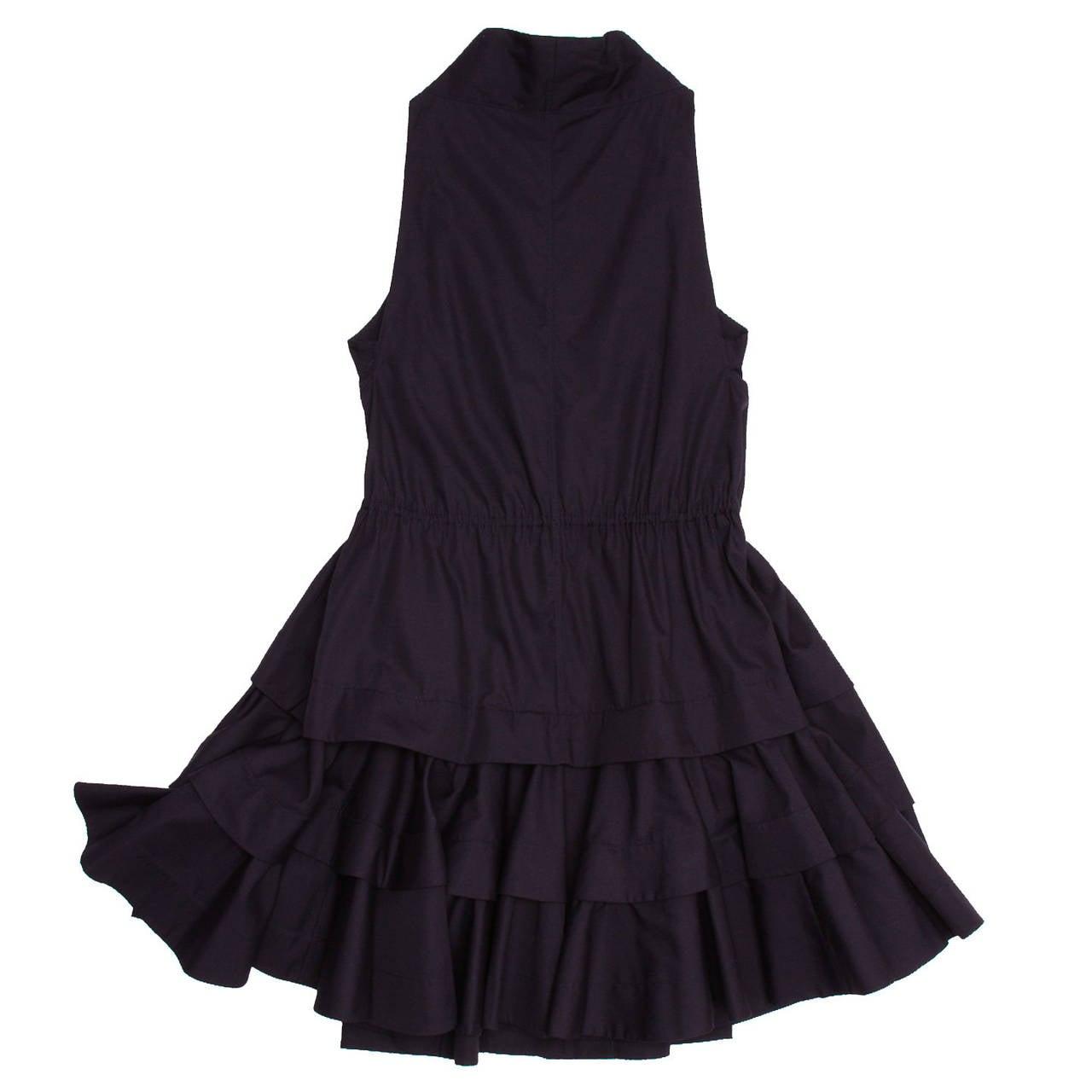 Alaïa Dress Navy Halter Style 2