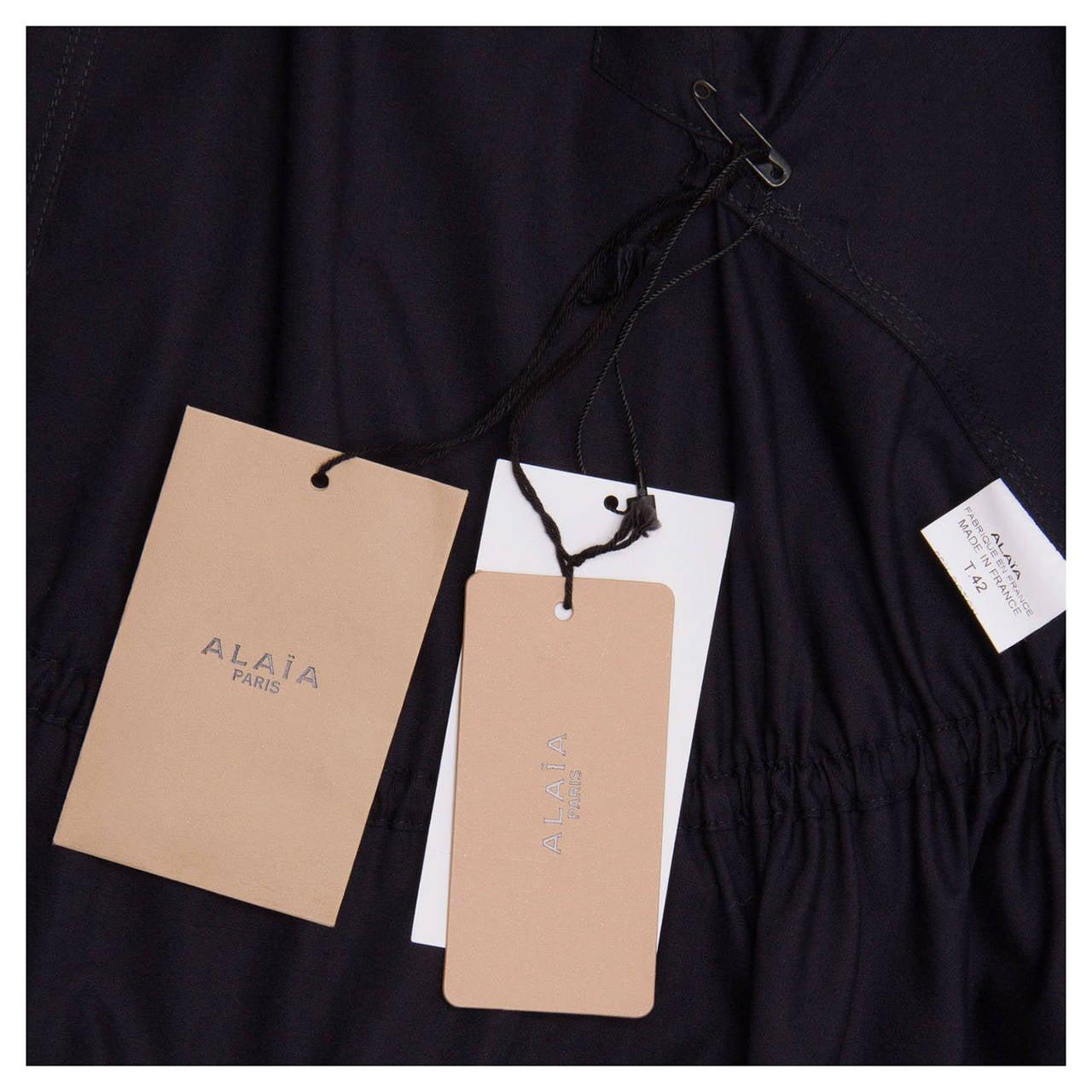 Alaïa Dress Navy Halter Style 5