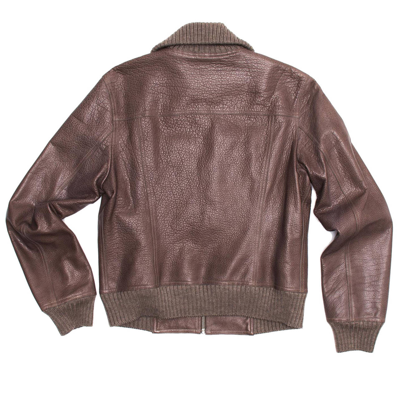 hermes mens bag - Hermes Brown Bison Bomber Style Jacket For Sale at 1stdibs