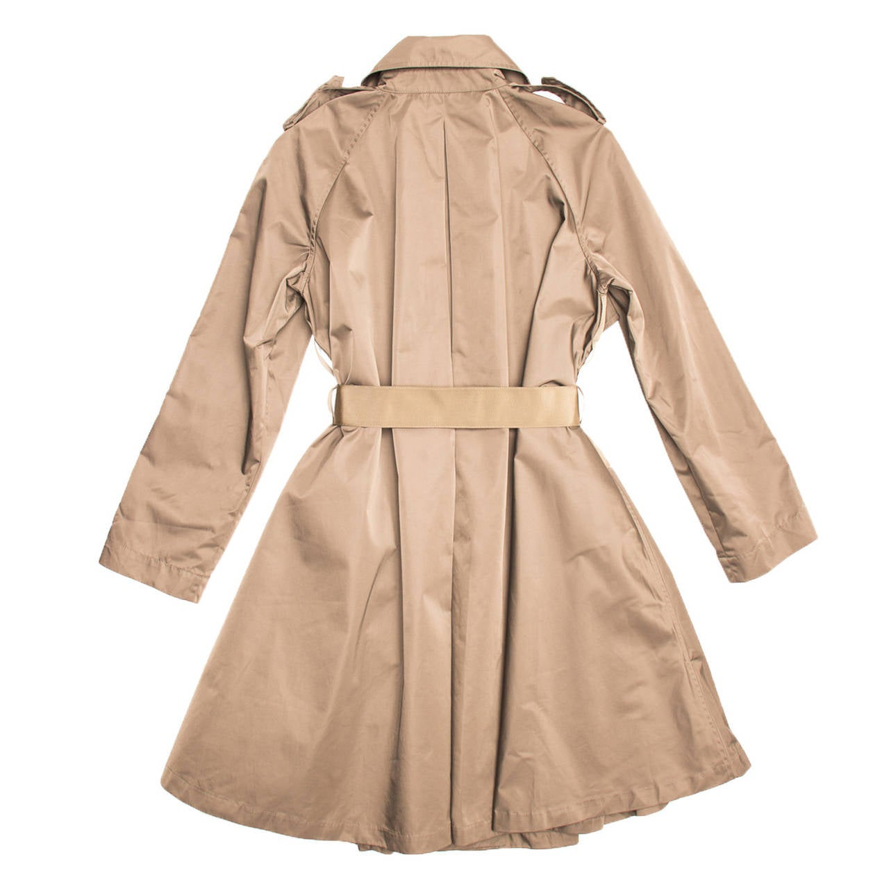 Lanvin Coat - 2008 Taupe Bell Shape Raincoat With Ribbon Belt 3