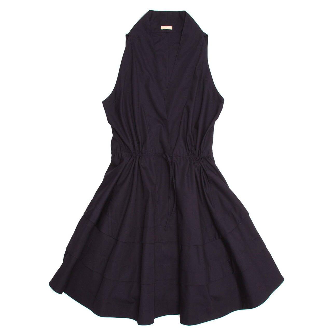 Alaïa Dress Navy Halter Style 1