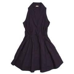 Alaïa Dress Navy Halter Style